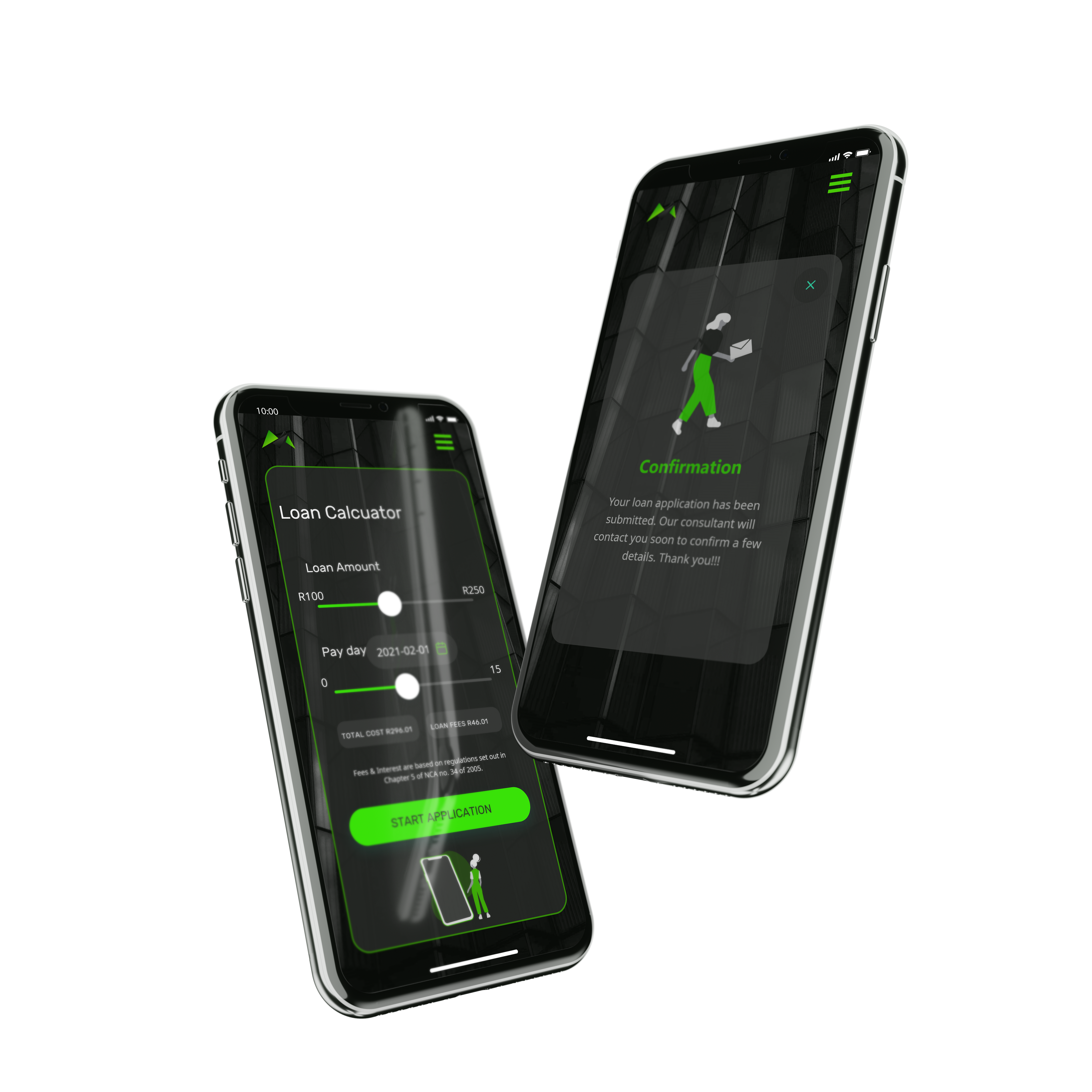 iPhone X mockup hover both